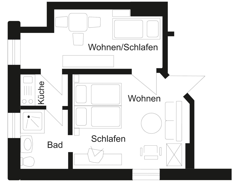 Grundriss Familienzimmer Typ 2