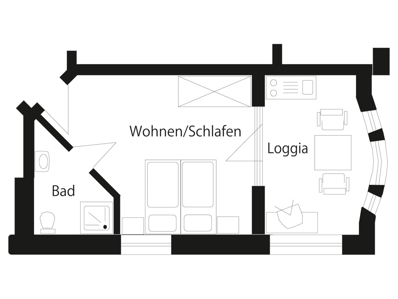Grundriss Doppelzimmer Komfort