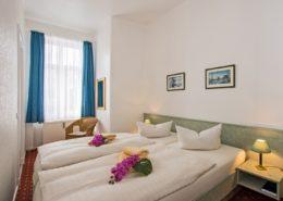 Familienzimmer Typ 1 Koralle Schlafbereich - Urlaubshotel Strandvilla Imperator mit Ferienwohnungen und Zimmern im Seebad Bansin auf Usedom