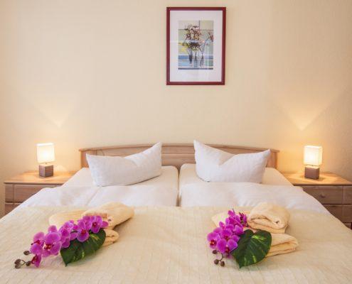 Ferienwohnung Onyx Schlafzimmer 2 - Urlaubshotel Strandvilla Imperator im Seebad Bansin auf Usedom