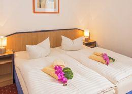 Ferienwohnung Onyx Schlafzimmer 4 - Urlaubshotel Strandvilla Imperator im Seebad Bansin auf Usedom