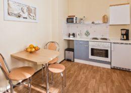 Ferienwohnung Opal Küche 2 - Urlaubshotel Strandvilla Imperator mit Ferienwohnungen und Zimmern im Seebad Bansin auf Usedom