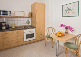 Ferienwohnung Rosenquarz Küche - Urlaubshotel Strandvilla Imperator im Seebad Bansin auf Usedom