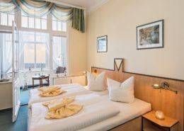 Doppelzimmer Komfort Wohn-/Schlafbereich 1 - Urlaubshotel Strandvilla Imperator im Seebad Bansin auf Usedom