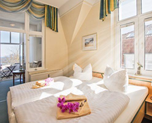 Doppelzimmer Komfort Wohn-/Schlafbereich 5 - Urlaubshotel Strandvilla Imperator im Seebad Bansin auf Usedom