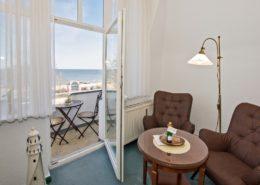 Doppelzimmer Komfort - Urlaubshotel Strandvilla Imperator mit Ferienwohnungen und Zimmern im Seebad Bansin auf Usedom