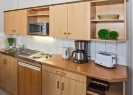 Ferienwohnung Komfort Bernstein Küche 1 - Urlaubshotel Strandvilla Imperator im Seebad Bansin auf Usedom