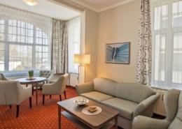 Ferienwohnung Komfort Bernstein Wohnbereich 2 - Urlaubshotel Strandvilla Imperator im Seebad Bansin auf Usedom