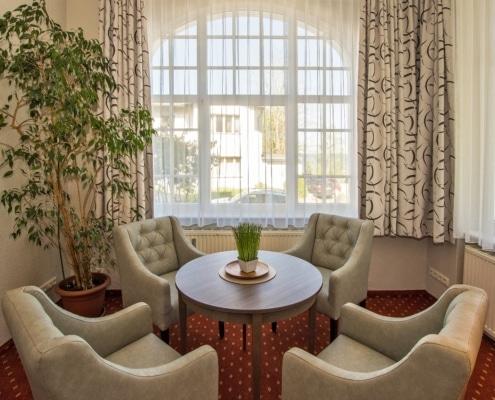 Ferienwohnung Komfort Bernstein Wohnbereich