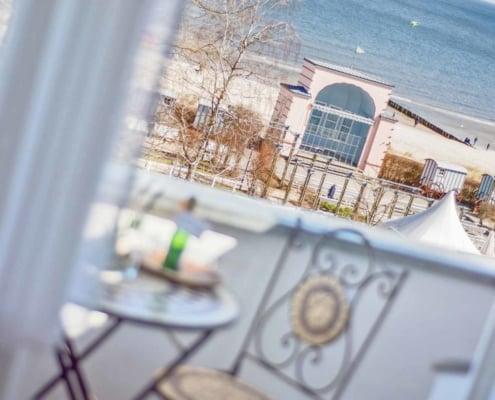 Mehrblick auf dem Balkon - Urlaubshotel Strandvilla Imperator im Seebad Bansin auf Usedom