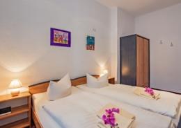Familienzimmer Rubin Schlafbereich 2 - Urlaubshotel Strandvilla Imperator in Bansin auf Usedom