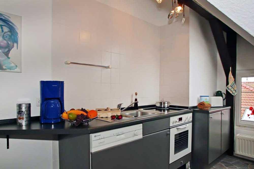 Ferienwohnung Aquamarin Küche