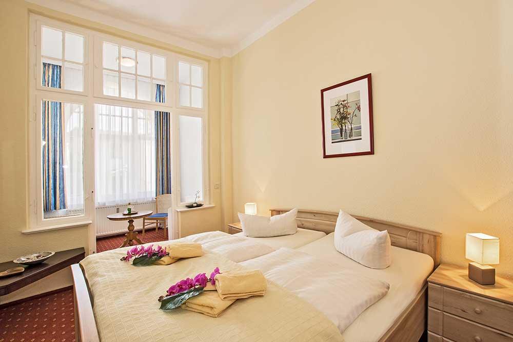 Ferienwohnung Onyx Doppelbett Schlafzimmer