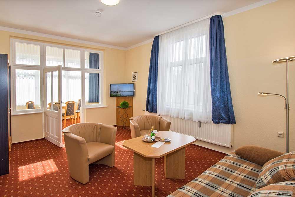 Opal Wohnzimmer Ferienwohnung Bansin