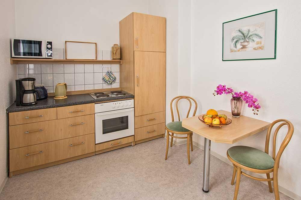 Rosenquarz Küche Ferienwohnung Seebad Bansin