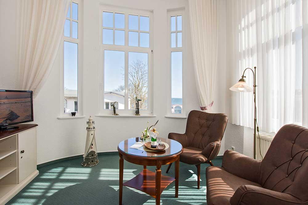 Doppelzimmer Komfort Sitzbereich