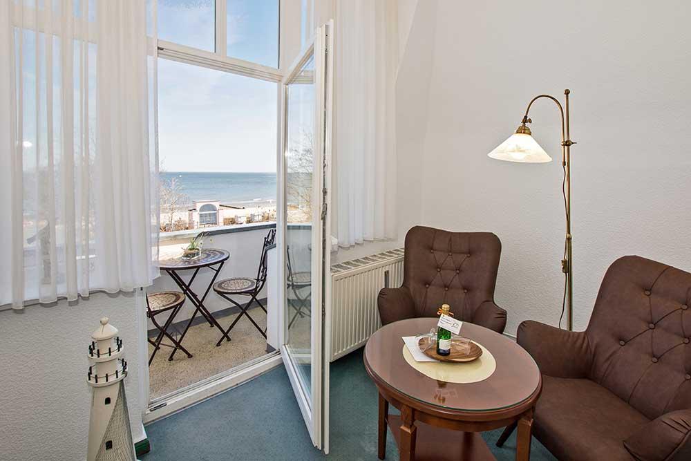 Doppelzimmer Komfort Balkon Meerblick